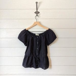 Abercrombie & Fitch Peasant Blouse